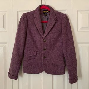 Ralph Lauren Rugby purple wool blazer